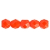 Fire Polished 6mm Opaque Orange